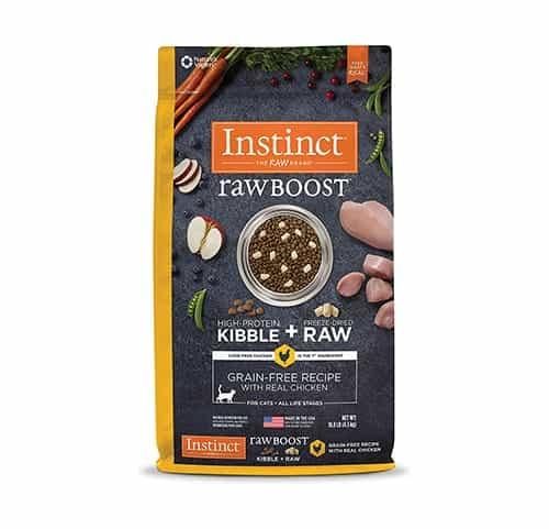 Receta de comida para gatos sin cereales Instinct Raw Boost