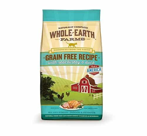 Whole Earth Farms Comida seca sin cereales para gatos