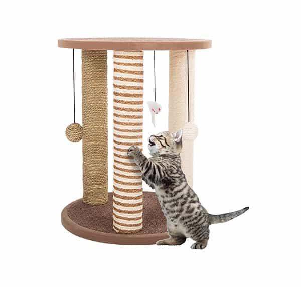 El mejor poste rascador para gatos para varios gatos